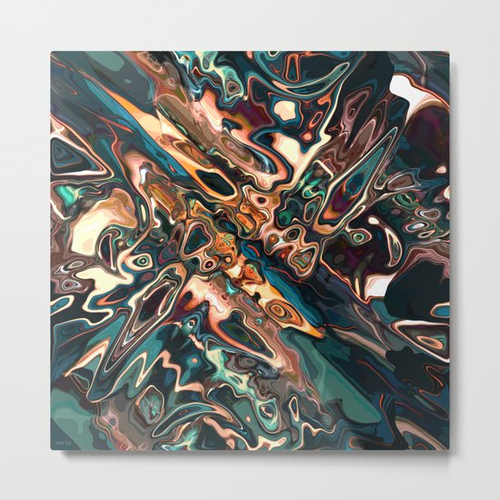 Melting Copper Abstract   Metal Print