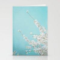 cherry Stationery Cards featuring CHERRY by SUNLIGHT STUDIOS  Monika Strigel