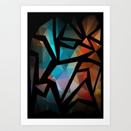 Abstract background of triangles polygon print. Art Print