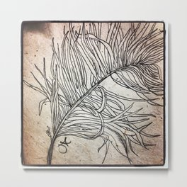 Palm Flower on Earth Day Metal Print