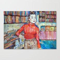 Russian Red, Singer, painting, illustration, art pop Canvas Print