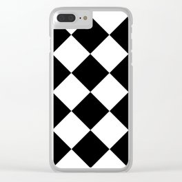 Retro American Diner Tile Black White Clear iPhone Case