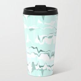 Marbled in mint Metal Travel Mug