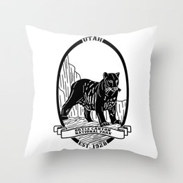 Bryce Canyon Emblem Throw Pillow