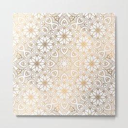 gold, Arabic, Art, Leaf, Light ,Metal ,Yellow, flowers, Metal Print
