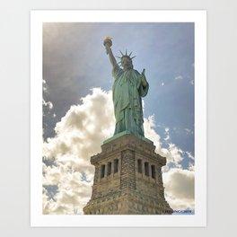 Monumental Lady Liberty Art Print