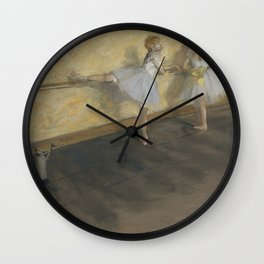 Dancers Practicing at the Barre Wall Clock