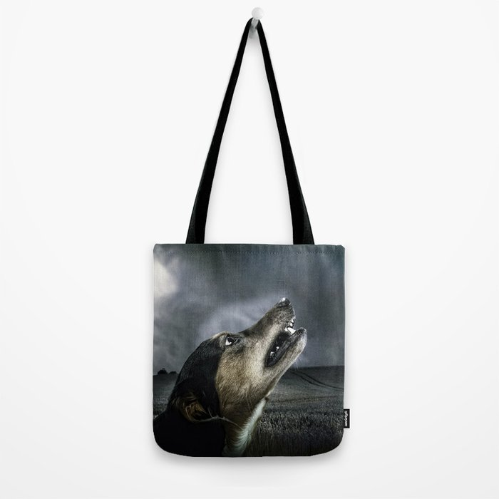 Dog moonlight 1 Tote Bag