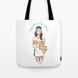Holly Golightly and her cat - Audrey Hepburn  Tote Bag