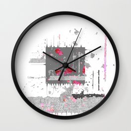 Chaos and Reverence Contemporary Abstract NO. 1 Wall Clock