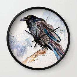 Rain Raven Wall Clock