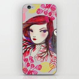 Red Owl Gal iPhone Skin