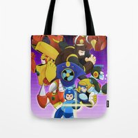 megaman Tote Bags featuring Megaman 2 by Patrick Towers
