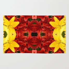 """""""A Gathering of Lilies"""" Remix - 1 (1-1) [D4465~12] Rug"""