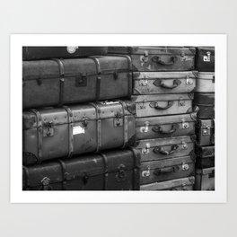 Travelling. Art Print