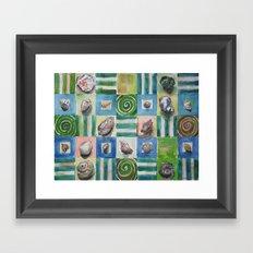 Shell and stripes Framed Art Print