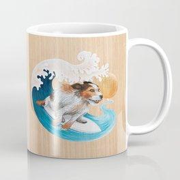 Surfing dog wave sea sun Coffee Mug