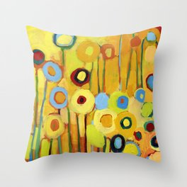 Growing in Yellow No 5 Throw Pillow