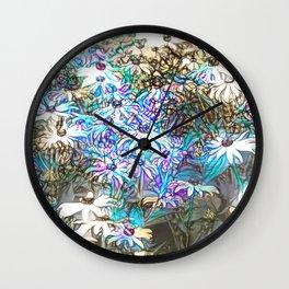 Field of Dainty Flowers Wall Clock