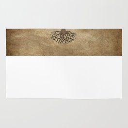 Vintage Tree of Life with Flag of Ethiopia Rug