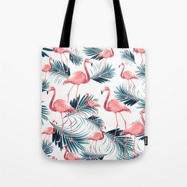 Summer Flamingo Palm Vibes #1 #tropical #decor #art #society6 Tote Bag