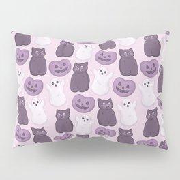 Halloween Marshmallows Soft Purple Pillow Sham