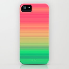Tropical stripes Summer pattern iPhone Case