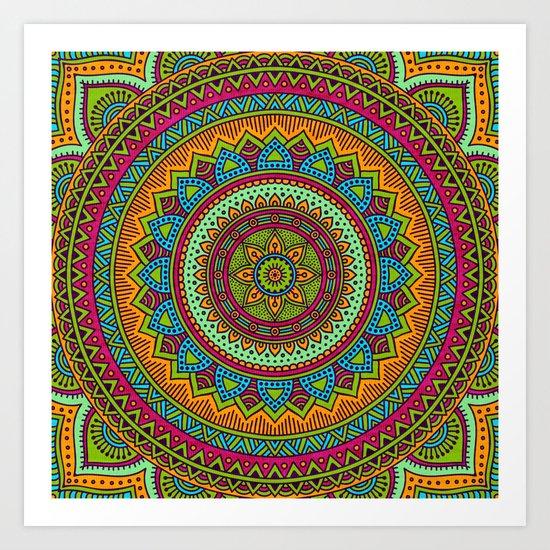 Hippie mandala 53 Art Print