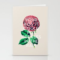 kiss Stationery Cards featuring Kiss by Heart of Hearts Designs