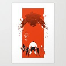 Facing the enemy (Heroes & Movies) Art Print