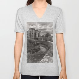 The Castle Moat Unisex V-Neck