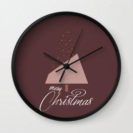 Plum Xmas #society6 #plum #xmas Wall Clock
