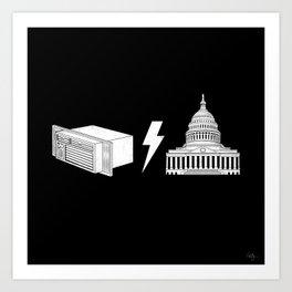 Literal AC/DC Art Print