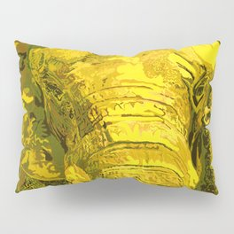 Sunshine Yellow Elephant art Pillow Sham