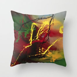 Planet Flow - abstract painting by Rasko Throw Pillow