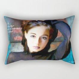Blue Wall Rectangular Pillow
