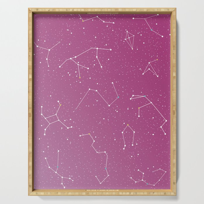 Stars on the sky constellations Serving Tray
