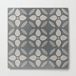 Jaipur Trellis Graphite Metal Print
