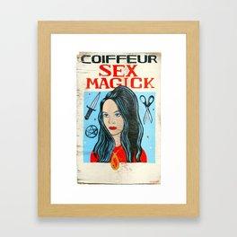 Sex Majick Coiffure Framed Art Print