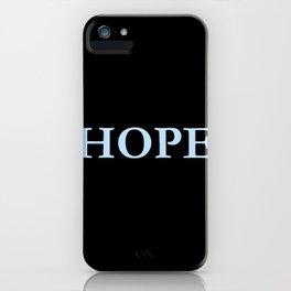 Hope 2 - blue version iPhone Case