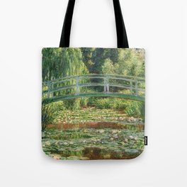 Bridge over a Pond of Water Lilies - Monet Tote Bag