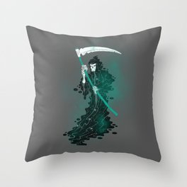 SPACE REAPER- halloween artwork death reaper Grim Reaper Throw Pillow