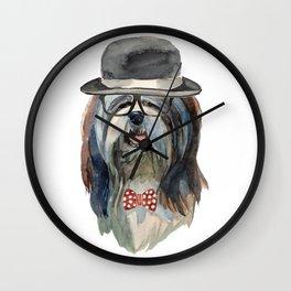 Lhasa Apso, lhasa apso gift Wall Clock