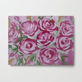 fresh pink roses Metal Print