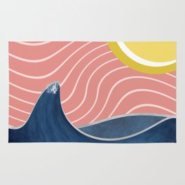 Sun, beach and sea Rug