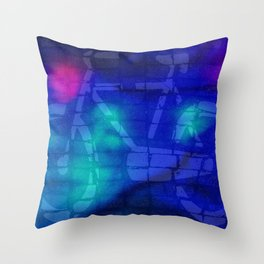Bicycle sign on the street Throw Pillow