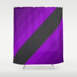 Pixel Grape Juice Dreams - Purple Shower Curtain