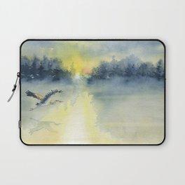 Flying Home - Great Blue Heron Laptop Sleeve