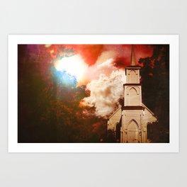Deepwoods Grove Church Art Print