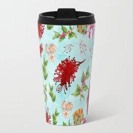 Beautiful Christmas Pattern with Australian Native Flowers Travel Mug